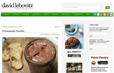 http://www.davidlebovitz.com/2011/02/homemade-nutella-recipe-chocolate-hazelnut-spread/
