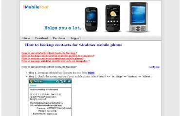 http://imobiletool.com/how-to-backup-contacts-for-windows-mobile-phone.html