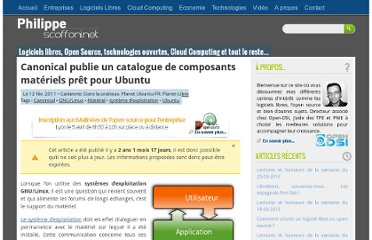 http://philippe.scoffoni.net/canonical-catalogue-composants-materiels-ubuntu/