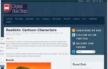 Realistic Cartoon Characters