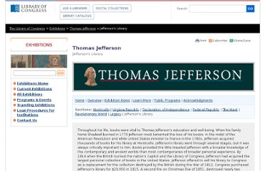 http://www.loc.gov/exhibits/jefferson/jefflib.html