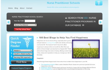 http://nursepractitionerschools.org/100-best-blogs-to-help-you-find-happiness/