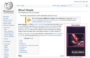 http://en.wikipedia.org/wiki/Blood_Simple