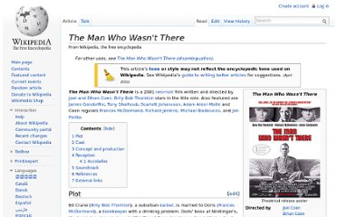 http://en.wikipedia.org/wiki/The_Man_Who_Wasn%27t_There