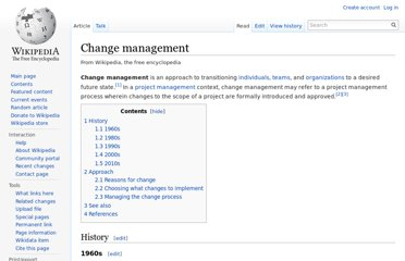 http://en.wikipedia.org/wiki/Change_management