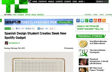 http://techcrunch.com/2011/02/13/spanish-design-student-creates-sleek-new-spotify-gadget/