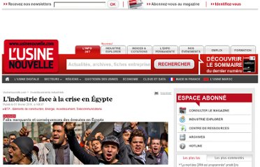 http://www.usinenouvelle.com/article/l-industrie-face-a-la-crise-en-egypte.N145800