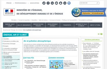 http://www.developpement-durable.gouv.fr/-Air-et-pollution-atmospherique,495-.html