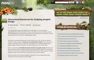 http://www.noupe.com/design/education-resources-for-studying-graphic-design.html