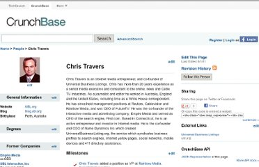 http://www.crunchbase.com/person/chris-travers