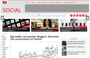 http://venturebeat.com/2011/02/14/big-media-not-bloggers-with-the-most-followers-dominate-the-conversation-on-twitter/
