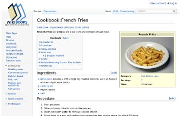 http://en.wikibooks.org/wiki/Cookbook:French_Fries