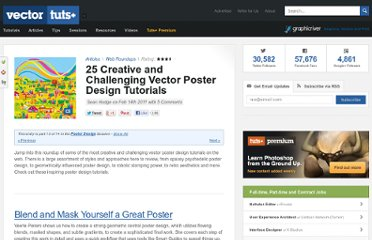 http://vector.tutsplus.com/articles/web-roundups/25-creative-and-challenging-vector-poster-design-tutorials/