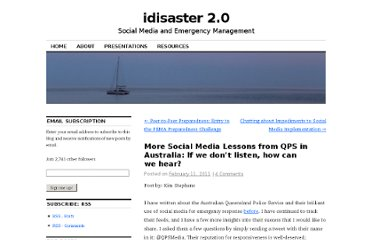 http://idisaster.wordpress.com/2011/02/11/more-social-media-lessons-from-qps-in-australia-in-order-to-hear-you-have-to-listen/#comment-446