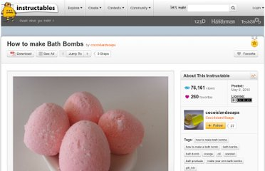 http://www.instructables.com/id/How-to-make-Bath-Bombs-1/
