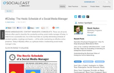 http://blog.socialcast.com/e2sday-the-hectic-schedule-of-a-social-media-manager/
