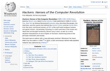 http://en.wikipedia.org/wiki/Hackers:_Heroes_of_the_Computer_Revolution