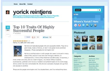 http://blog.topplaza.com/2010/06/top-10-traits-of-highly-successful-people/
