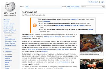 http://en.wikipedia.org/wiki/Survival_kit