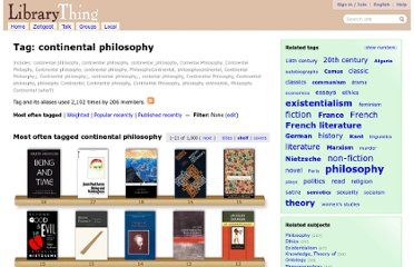 http://www.librarything.com/tag/continental+philosophy