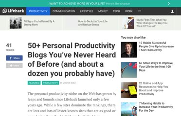 http://www.lifehack.org/articles/productivity/50-personal-productivity-blogs-youve-never-heard-of-before-and-about-a-dozen-you-probably-have.html