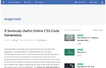 http://designmodo.com/9-seriously-useful-online-css-code-generators/