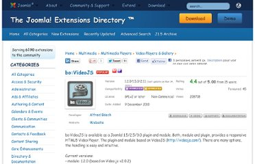 http://extensions.joomla.org/extensions/multimedia/multimedia-players/video-players-a-gallery/14836