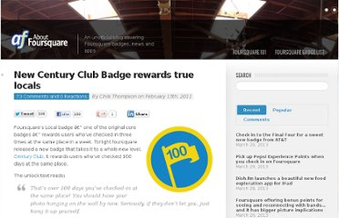 http://aboutfoursquare.com/new-century-club-badge-rewards-true-locals/