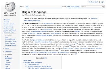 http://en.wikipedia.org/wiki/Origin_of_language
