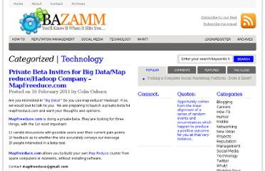 http://www.bazamm.com/2011/02/16/private-beta-invites-for-big-datamap-reducehadoop-company-mapfreeduce-com/
