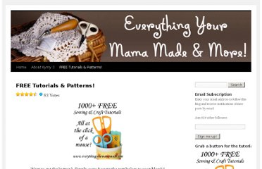 http://everythingyourmamamade.com/its-all-about-the-free-tutorials/