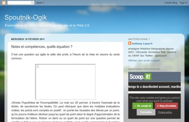 http://spoutnikogik.blogspot.com/2011/02/notes-et-competences-quelle-equation.html