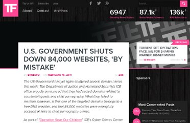 http://torrentfreak.com/u-s-government-shuts-down-84000-websites-by-mistake-110216/