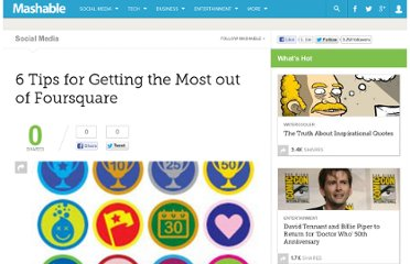 http://mashable.com/2009/12/10/fourquare-tips/