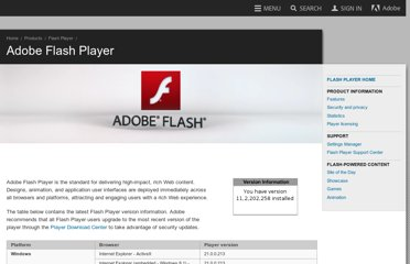 http://www.adobe.com/software/flash/about/