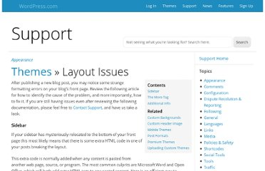 http://en.support.wordpress.com/themes/layout-issues/