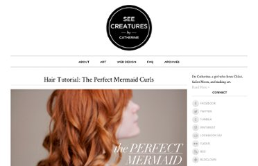 http://seecreatures.com/2011/02/the-perfect-mermaid-curls/