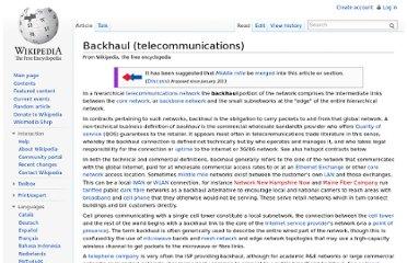 http://en.wikipedia.org/wiki/Backhaul_(telecommunications)