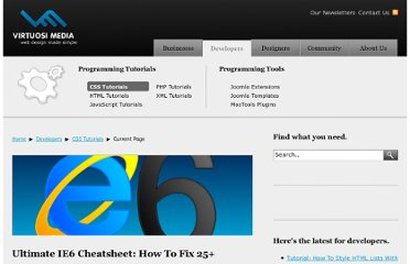 http://www.virtuosimedia.com/dev/css/ultimate-ie6-cheatsheet-how-to-fix-25-internet-explorer-6-bugs