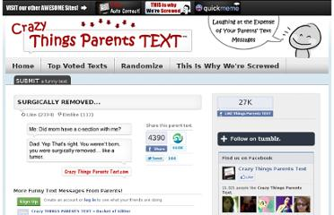 http://crazythingsparentstext.com/view/parents-text/8