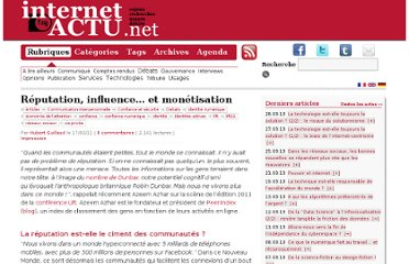 http://www.internetactu.net/2011/02/17/reputation-influence-et-monetisation/