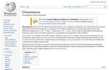 http://en.wikipedia.org/wiki/Chrominance