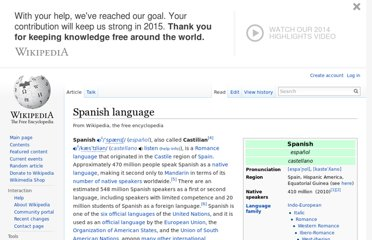 http://en.wikipedia.org/wiki/Spanish_language
