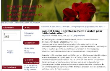 http://www.vincent15.fr/index.php?post/2008/05/02/Logiciel-Libre-%3A-Developpement-Durable-pour-lAdministration