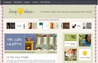http://cheepideas.com/2010/02/12-tin-can-crafts/