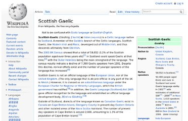 http://en.wikipedia.org/wiki/Scottish_Gaelic