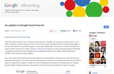 http://googleblog.blogspot.com/2011/02/update-to-google-social-search.html