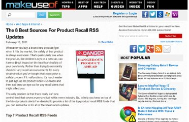 http://www.makeuseof.com/tag/7-sources-product-recall-rss-updates/