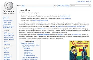 http://en.wikipedia.org/wiki/Invention