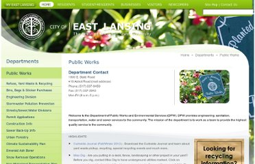 http://www.cityofeastlansing.com/Home/Departments/PublicWorks/RefuseYardWasteRecyclingCollections/RecyclingDropOffLocations/